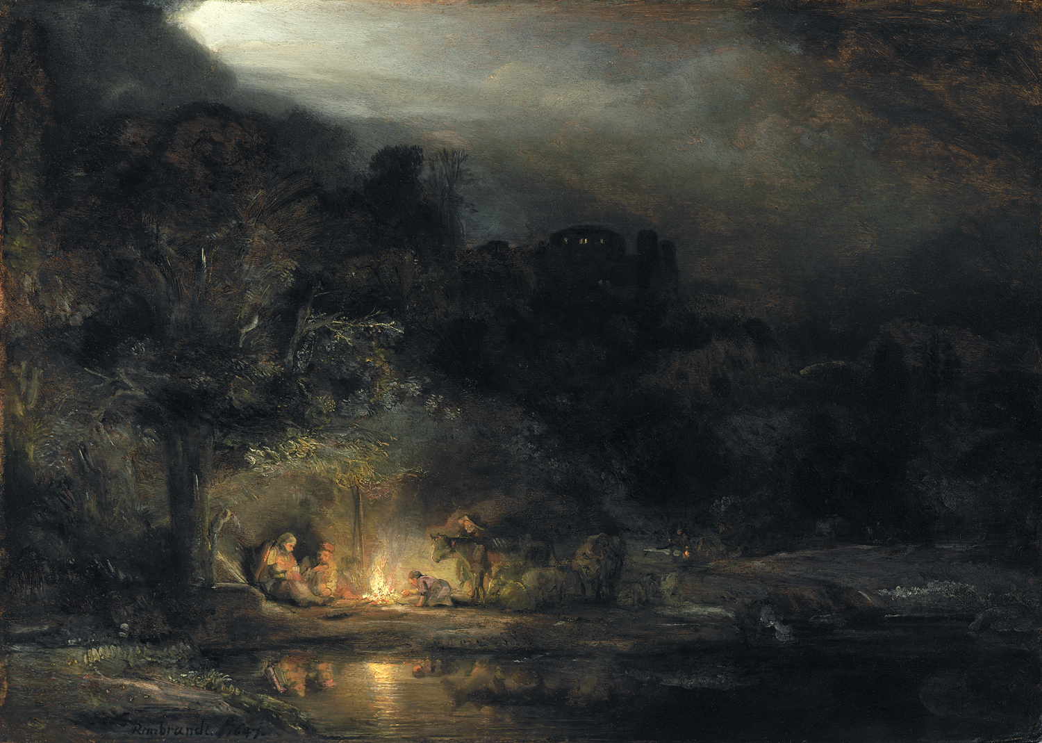 Image result for Landscape with the rest on the flight to Egypt, 1647, National Gallery of Ireland Collection. Photo © National Gallery of Ireland