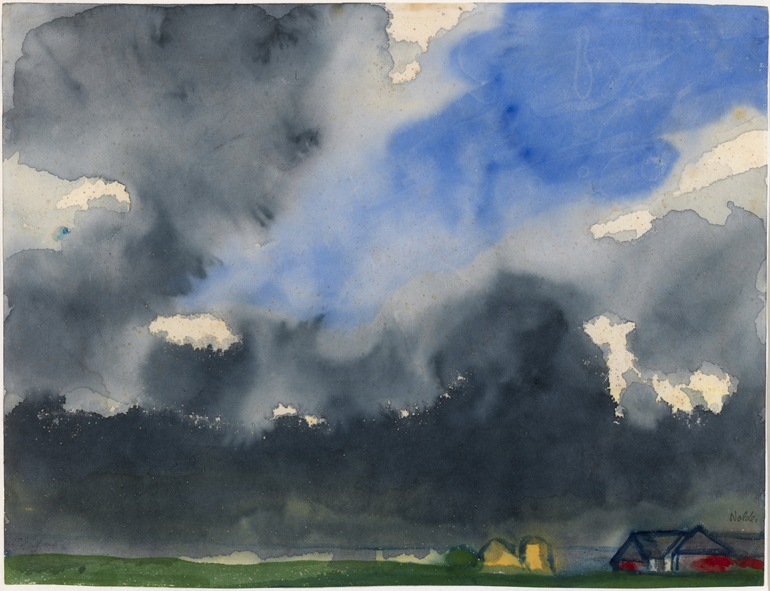 Emil Nolde (1867-1956), 'Rain over a Marsh'. © Nolde Stiftung Seebüll. Photo © NGI.