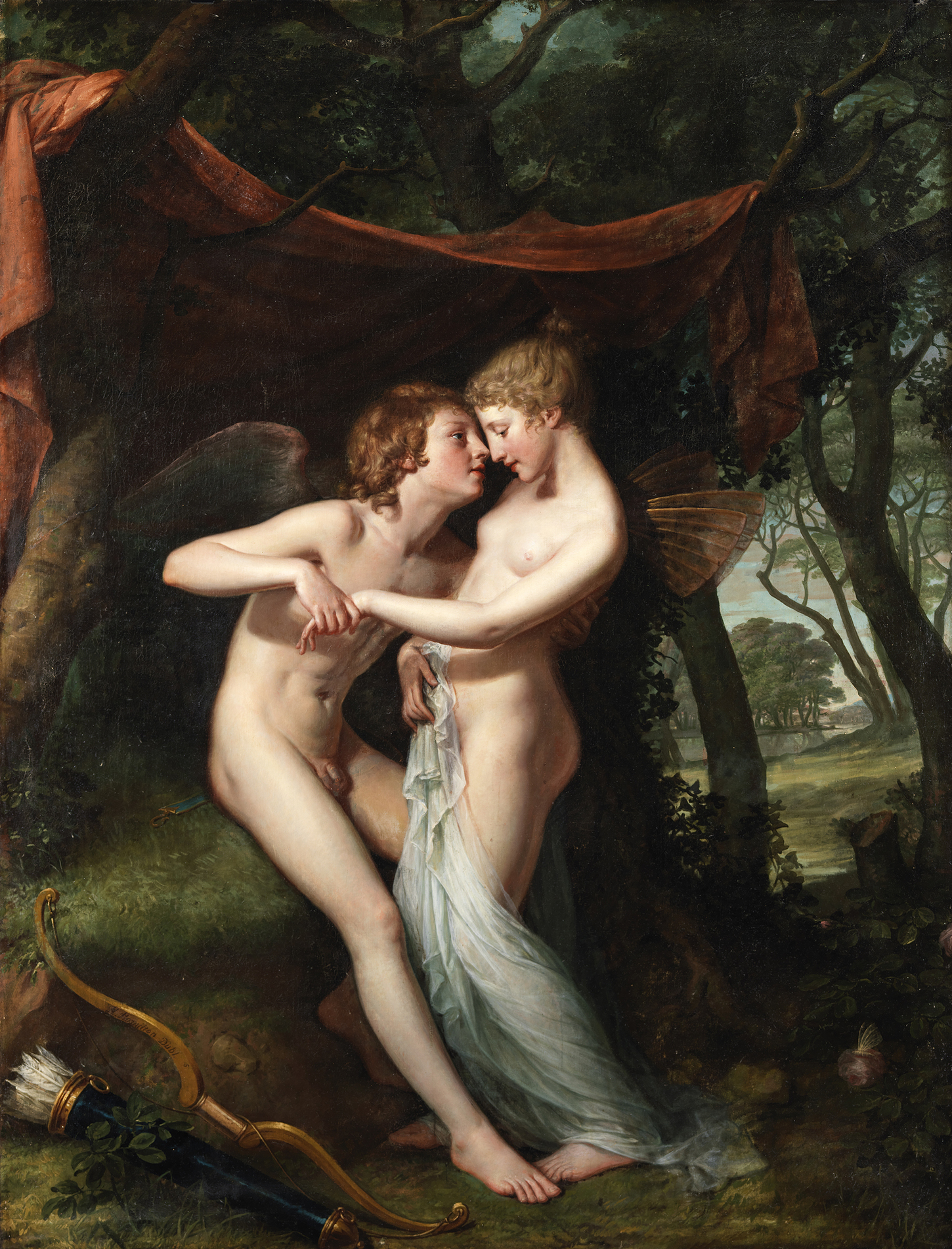 Cupid and Psyche stand in the Nuptial Bower
