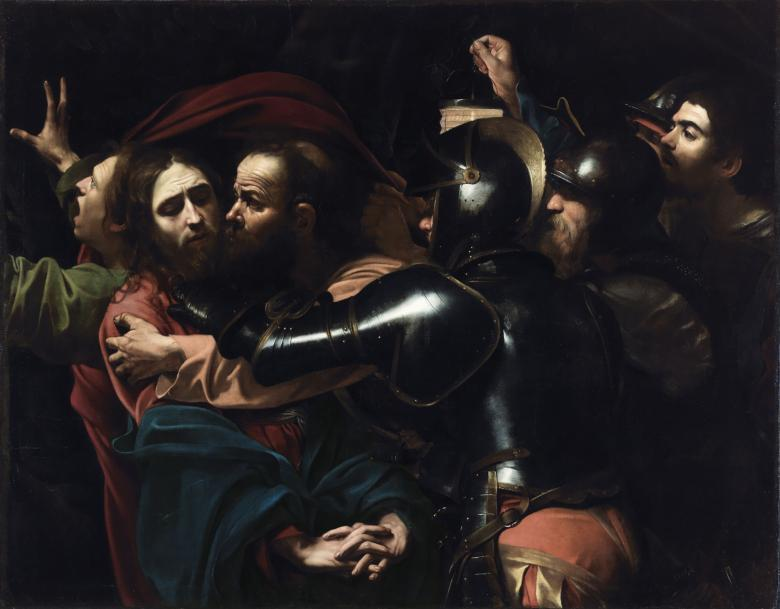 Michelangelo Merisi da Caravaggio (1571-1610), 'The Taking of Christ', 1602. © National Gallery of Ireland