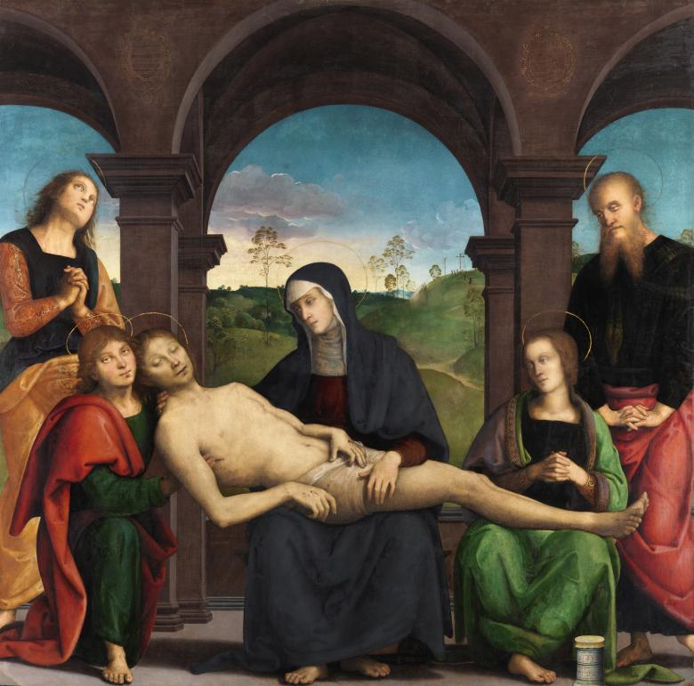 Perugino (c.1450-1523), 'The Lamentation over the Dead Christ', c.1495. © National Gallery of Ireland.
