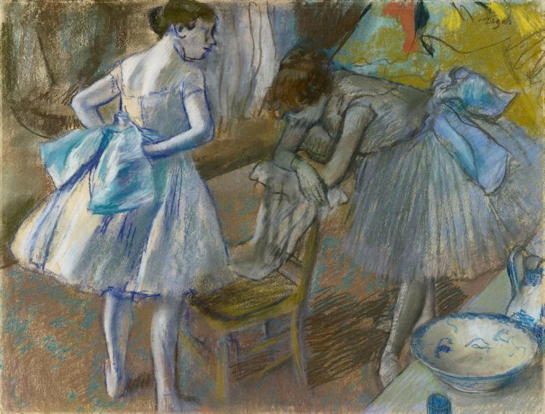 Edgar Degas (1834-1917), 'Two Ballet Dancers in a Dressing Room', c.1880. © National Gallery of Ireland.