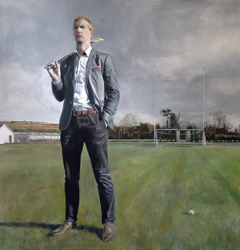 Gerry Davis (b.1985), 'Portrait of Henry Shefflin', 2017.  © Gerry Davis. Photo © National Gallery of Ireland