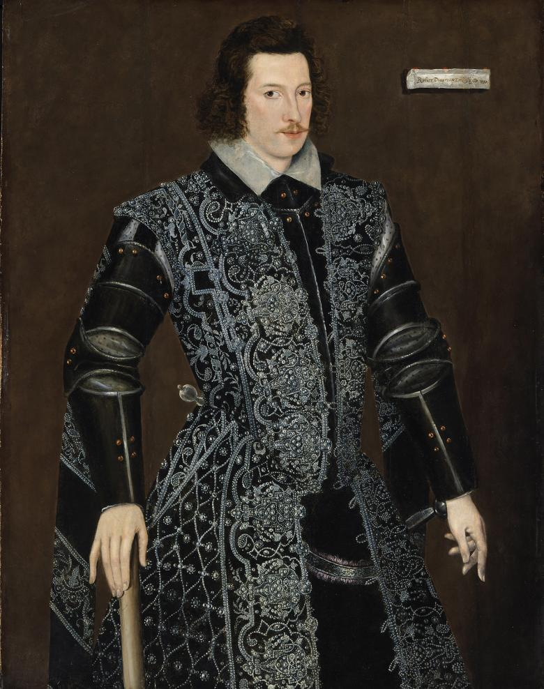 Three-quarter-length oil portrait of Robert Devereux