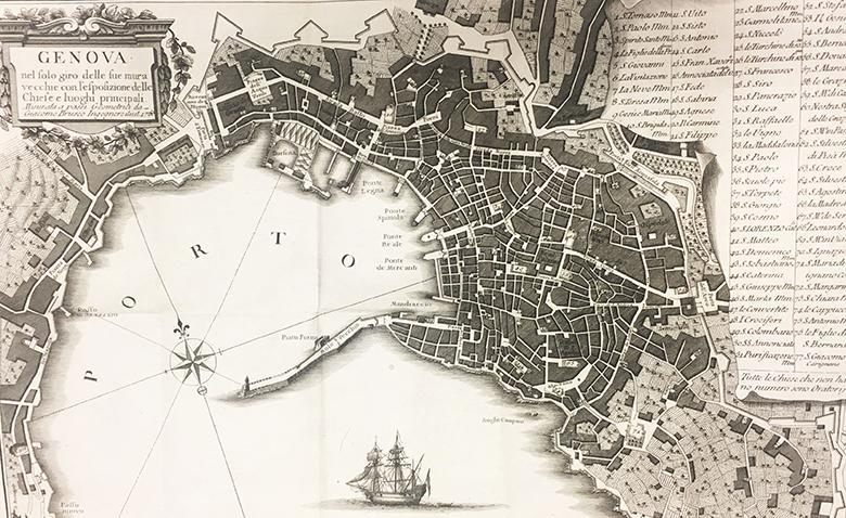 Map of Genoa dating to 1781.
