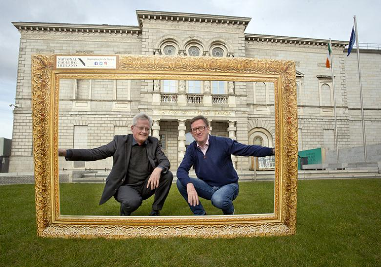 Patrick Manley, CEO of Zurich Insurance plc, and Sean Rainbird, Director, National Gallery of Ireland, pictured launching the Zurich Portrait Prize at the National Gallery of Ireland