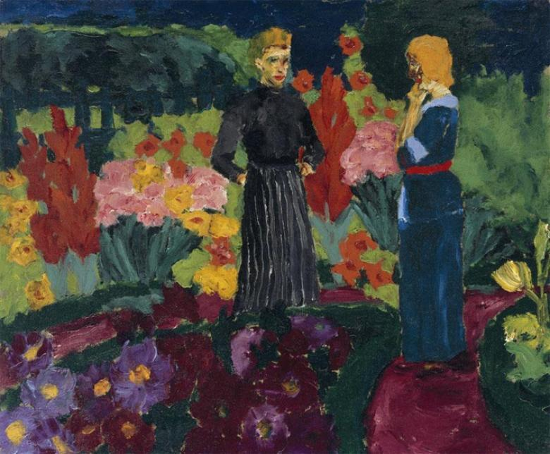 Emil Nolde (1867-1956), 'Two Women in a Garden', 1915. Copyright the artist's estate.