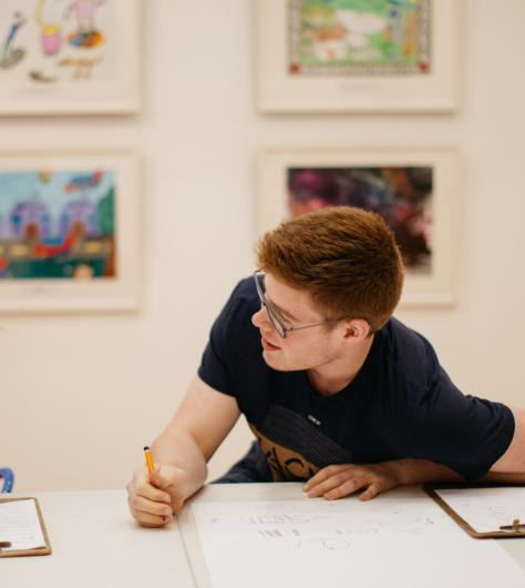 Students drawing in the gallery. © National Gallery of Ireland.