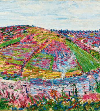 Roderic O'Conor, 'Landscape, Pont-Aven', 1892. Trustees of the W.R. Warburton 1996 Settlement. Photograph courtesy of Sotheby's