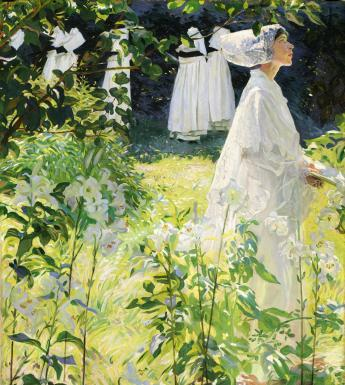 William John Leech (1881-1968), 'A Convent Garden, Brittany', c.1913. © National Gallery of Ireland.