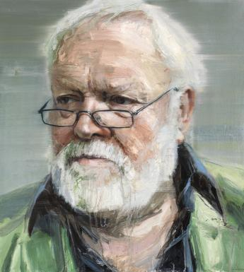 Colin Davidson (b.1968), 'Portrait of Michael Longley (b.1939), Poet, Editor and Anthologist', 2011-2012. © National Gallery of Ireland.
