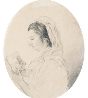 Maria Spilsbury Taylor, 'Self-portrait holding drawing', c.1815. Image © National Gallery of Ireland.