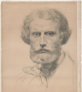 Frederic William Burton (1816-1900), 'Self-portrait', c.1845. © National Gallery of Ireland.