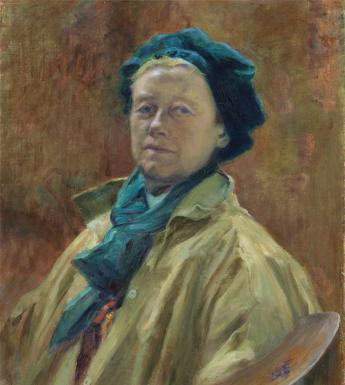 Helen Mabel Trevor (1831-1900), 'Self-portrait', c.1890s. © National Gallery of Ireland