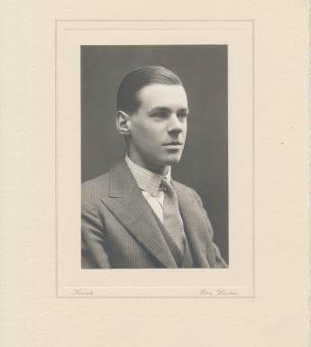 Sir Denis Mahon as a young man