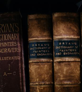 Artist dictionaries in the Art Library. © National Gallery of Ireland