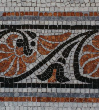 Mosaic tile details from the Merrion Square entrance. © National Gallery of Ireland.