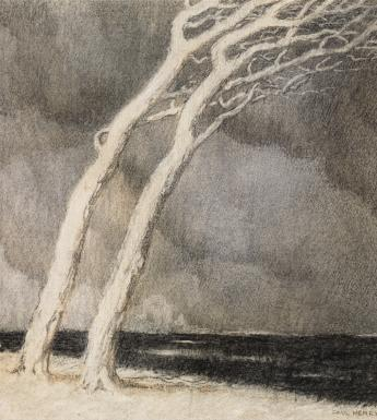Paul Henry (1876-1958), 'The Storm', c.1898 © the artist's estate. Photo © National Gallery of Ireland.