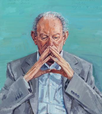Mick O'Dea (b.1958), 'Portrait of Brian Friel (1929-2015), Playwright', 2009. © National Gallery of Ireland.