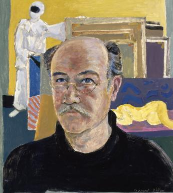 Gerard Dillon (1916-1971), 'A Self-Portrait with Pierrot and Nude', 1960s. © National Gallery of Ireland.