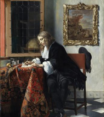 Gabriel Metsu (1629-1667), 'Man Writing a Letter', 1664-1666. © National Gallery of Ireland.