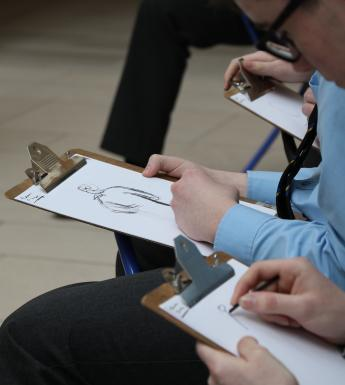 Students Sketching National Gallery of Ireland Schools Programme