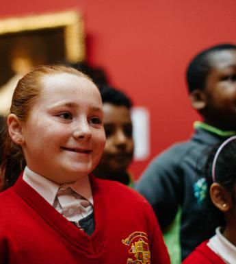 A school tour of the Beyond Caravaggio exhibition. © National Gallery of Ireland.