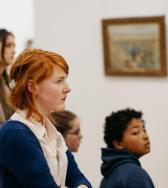 A school tour in the Millennium Wing. © National Gallery of Ireland.