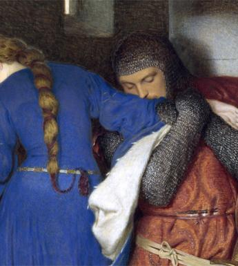Frederic William Burton (1816-1900), 'The meeting on the turret stairs' - detail. © National Gallery of Ireland.