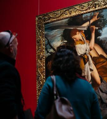 Visitors to Beyond Caravaggio. © National Gallery of Ireland.