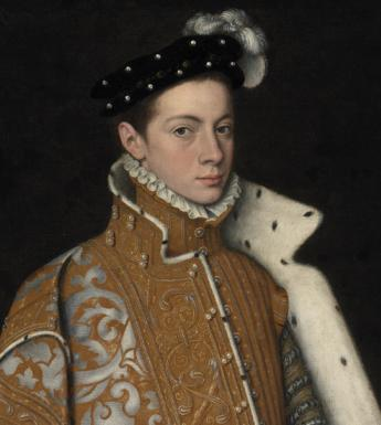 Detail from Sofonisba Anguissola (c.1532-1625), 'Portrait of Prince Alessandro Farnese (1545-1592), later Duke of Parma and Piacenza', c.1560. © National Gallery of Ireland