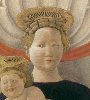 Detail from Paolo Uccello (c.1397-1475), Virgin and Child, 1435-1440. © National Gallery of Ireland