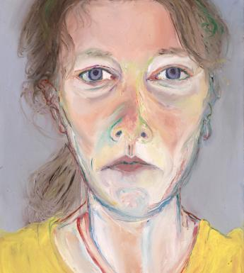 Aileen Conroy (b.1978), 'Aileen Johanna. Self Portrait (mirror reflection)', 2017. © the artist. Photo © National Gallery of Ireland.