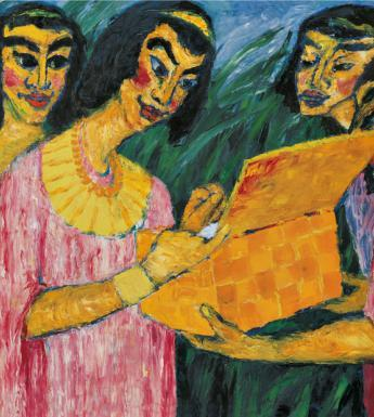 Emil Nolde (1867-1956), 'Pharaoh's Daughter Finds Moses', 1910 © Nolde Stiftung Seebüll.