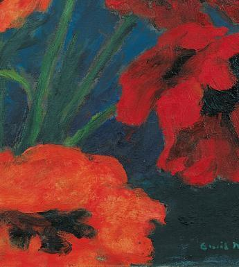 Emil Nolde (1867-1956), 'Large Poppies (Red, Red, Red)' - detail, 1942. © Nolde Stiftung Seebüll.
