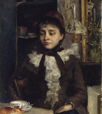 Sarah Henrietta Purser (1848-1943), 'Le Petit Déjeuner'. © National Gallery of Ireland.
