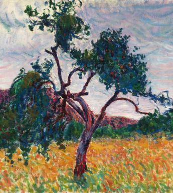 Roderic O'Conor, 'A Tree in a Field', c.1894. Private Collection. Photographer Roy Hewson.