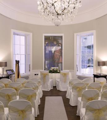 The space in No.5 South Leinster Street set up for a wedding ceremony