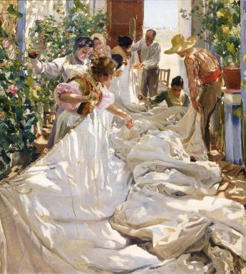 Joaquín Sorolla y Bastida (1863-1923), Sewing the Sail, 1896. 2019 © Photo Archive – Fondazione Musei Civici di Venezia