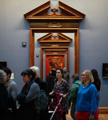 Photo of a group of people on a guided tour in the National Gallery of Ireland