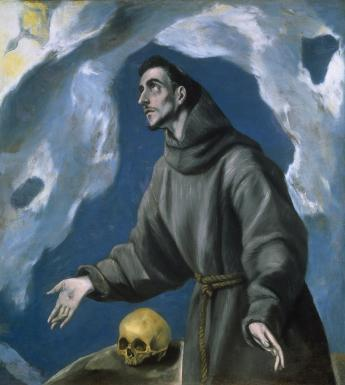 Oil painting of Saint Francis