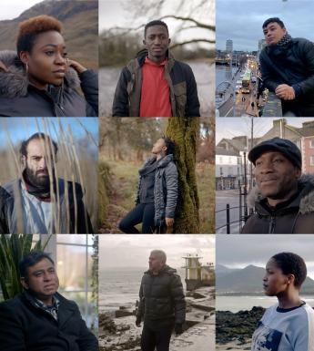 A grid of nine photographic portraits of the participants in the Something From There project.