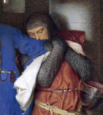 Frederic William Burton (1816-1900), 'The Meeting on the Turret Stairs' 1864 - detail. © National Gallery of Ireland.