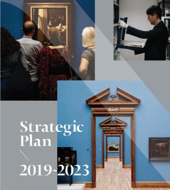 Front cover of the National Gallery of Ireland Strategic Plan 2019-2023.
