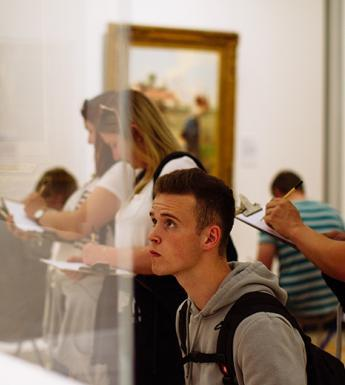 Visitors enjoying a sketching tour in the National Gallery of Ireland as part of National Drawing Day 2018.