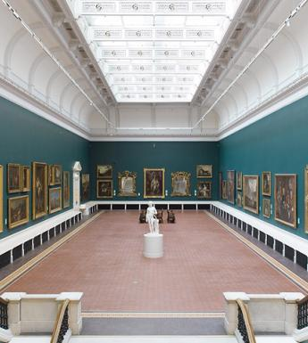 View of the Grand Gallery in the Dargan Wing of the National Gallery of Ireland.