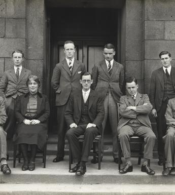 Dr Marie Lea-Wilson (1887–1971) from group photograph outside Harcourt Street c.1929