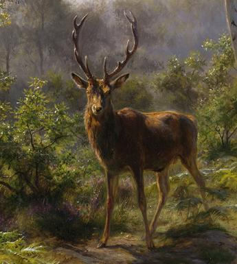 Detail from Rosa Bonheur, A Stag, 1893.