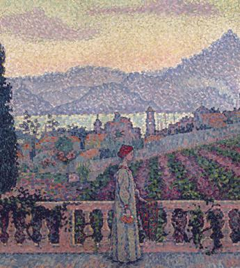 Detail from Paul Signac, The Terrace, Saint-Tropez, 1898