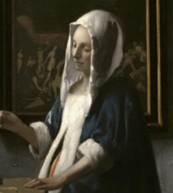 Johannes Vermeer (1632-1675), 'Woman with a Balance', c. 1663–4. Widener Collection. Courtesy National Gallery of Art, Washington.